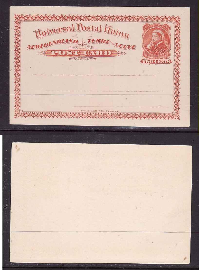 Canada Nfld (pre-1949) Newfoundland-canada 1910 Post Card W/plus Rate